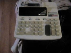 Huge calculator with all u need to take orders for small business comes with free roll of reciept paper its used but works great for Sale in Jacksonville, FL