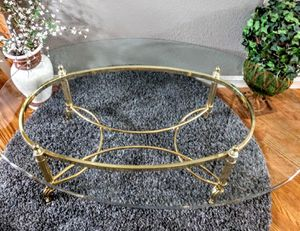 "Beveled Glass & Metal Detailed Coffee Table 30"" x 47"" x 16""H for Sale in Arvada, CO"