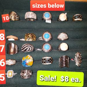 Sterling silver rings for Sale in Monroe, NC