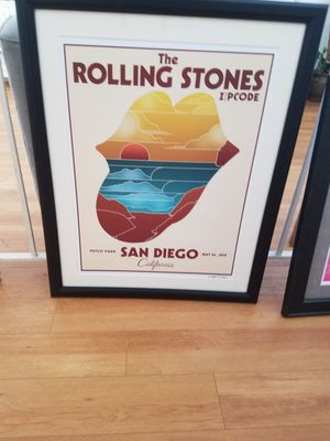 Rolling stones framed poster for Sale in Poway, CA