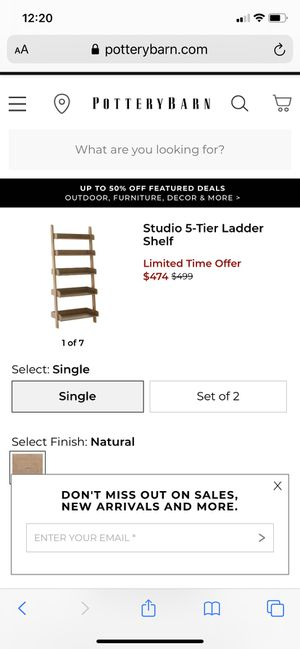 Pottery Barn ladder shelf for Sale in San Clemente, CA