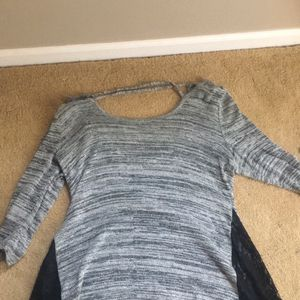 grey and black lace long sleeve shirt for Sale in Elgin, IL
