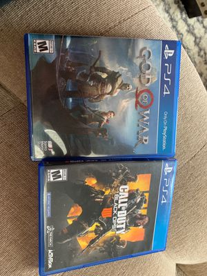 PS4 Games, God of War, CoD black ops 4 for Sale in Sun City, AZ