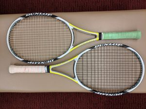 Pair of DUNLOP AEROGEL 5 HUNDRED Tennis Racquets 4&3/8 grip size for Sale in Vernon Hills, IL