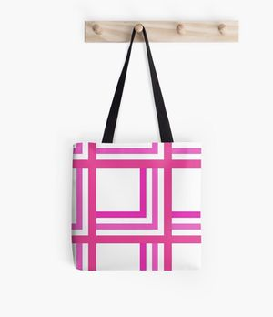 Pink symmetric tote bag for Sale in Fort Worth, TX