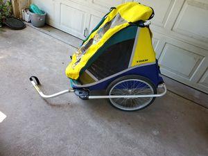 Trek double bike trailer kids hauler sports mountain trail outdoors for Sale in Dallas, TX