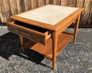 Mid century Lane style marble top side table for Sale in Orlando, FL