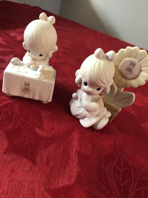 Precious Moments Figurines 2.5x4.5 both $13 for Sale in Round Rock, TX