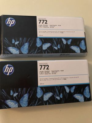 2- HP Designjet 772 Photo Black Ink- brand new for Sale in Mauldin, SC
