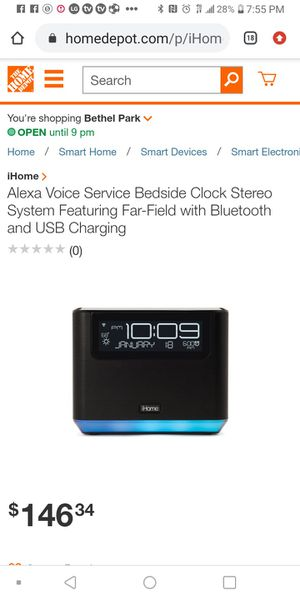 Ihome Bluetooth wifi alarm clock and speaker for Sale in CORNWALL Borough, PA