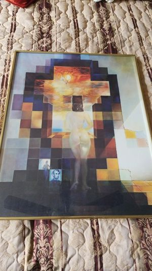 Painting. Dali. Copy. In glass frame. for Sale in Beaverton, OR