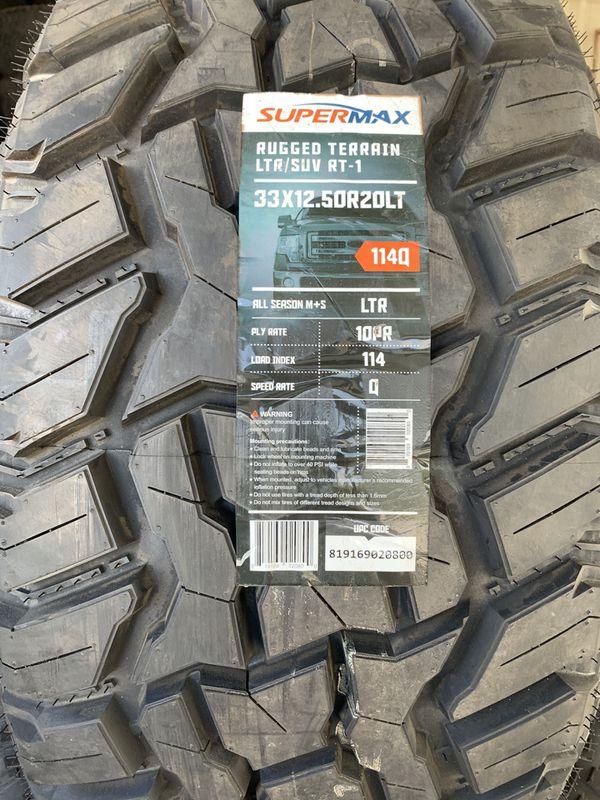 """33x12.50-20"""" SÚPER MAX , M/T"""