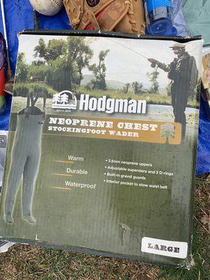 Hodgman Neoprene chest stocking foot wader large fishing for Sale in Redding, CA