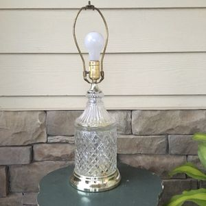"Antique Vintage Crystal Clear Lamp Base Ornate 22"" tall x 7"" wide at Base for Sale in Atlanta, GA"