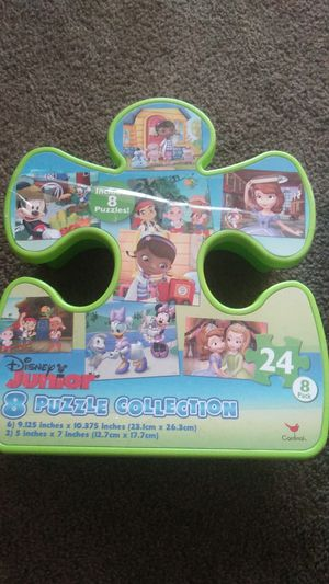 8 puzzle collection & uno moo preschool kids game for Sale in Hayward, CA