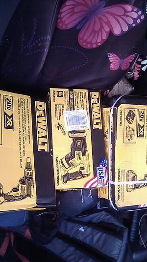 DeWalt reciprocating saw xr brushless 20v brushless drywall screw gun kit xr brushless 20 v and threespeed brushless impact driver kit for Sale in Stockton, CA