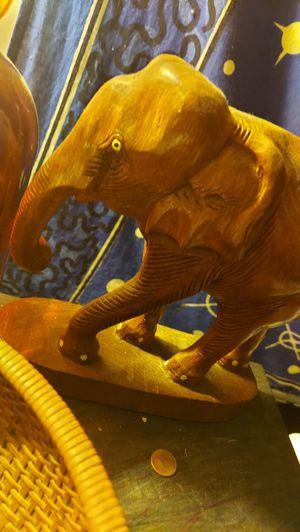 Handcaved teakwood elephant for Sale in Bridgeport, CT