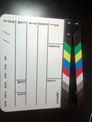Production slate w/ color Clapper Sticks for Sale in Countryside, IL