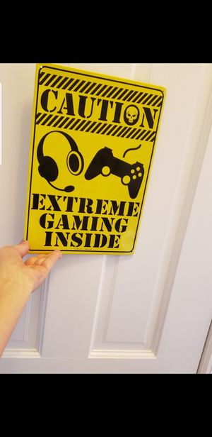 PS4 PS3 XBox Metallic Door Sign for Sale in New York, NY