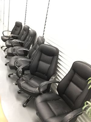 Bonded leather office chairs $5 each- Read description for Sale in Brandon, FL