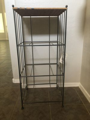 Wicker metal storage cart - needs 3 baskets for Sale in Chandler, AZ