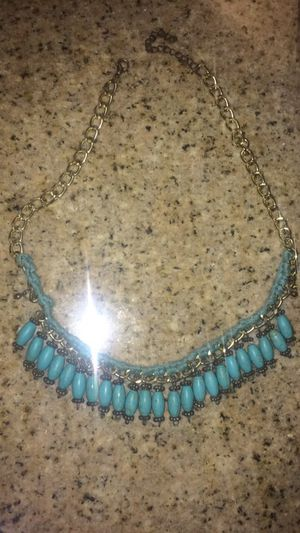 Turquoise necklace with gold chain for Sale in Los Angeles, CA