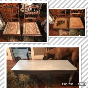 Small coffee table & 2 antique chairs for Sale in Kearny, NJ