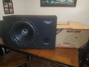 Brand new 15inch AUDIOPIPE subwoofer 1800watts MAX for Sale in The Bronx, NY