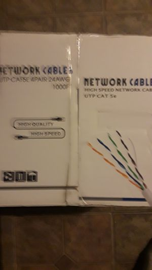 Wholesale cat 5 cable sale $50 for Sale in Claremont, CA