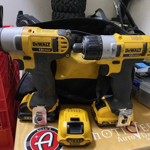 Dewalt 12 Volt 3/8 Impact And Drill Driver With 3 Batteries for Sale in Glen Burnie, MD