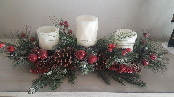 Christmas decorative center piece candles holder