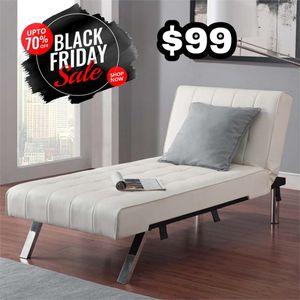 White Leather Futon ‼️Black Friday Sale‼️ for Sale in Dallas, TX