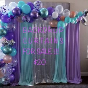 💜💚BACKDROP CURTAINS FOR SALE 💜💚 for Sale in Ontario, CA