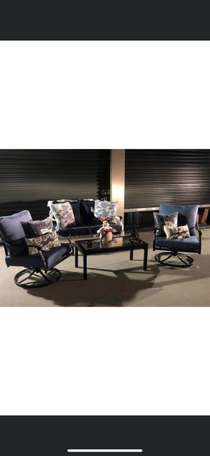 Outdoor / Patio 4 Metal or 5 PC's Wicker Sets 3 Sets To Choose From $899 & For today Only $699 flat firm * All are Brand New for Sale in La Vergne, TN
