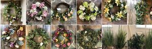 Many many wreaths, silk flowers, vases, arrangements, and more for Sale in Murfreesboro, TN