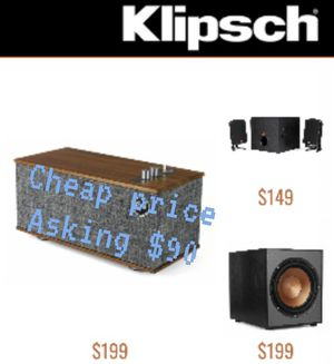 The One 2 phono\klipsch. Bluetooth. Asking 90$ for Sale in Dallas, TX