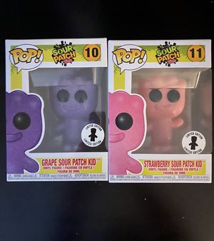 Purple Grape + Pink Strawberry Sour Patch Kids Funko Pop #10 & #11, MINT CONDITION LIMITED EDITION for Sale in Southwest Ranches, FL