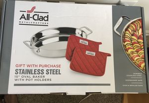"""All-Clad Stainless Steel 15"""" Oval Baker for Sale in Annapolis, MD"""