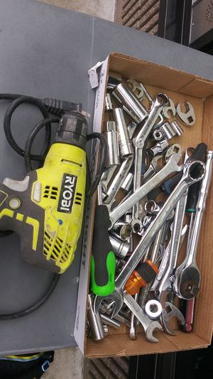 Ryobi drill..and sockets wrenches..ect.. for Sale in Houston, TX