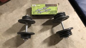 Marcy 14 inch adjustable chrome dumbbells with weights for Sale in Fresno, CA