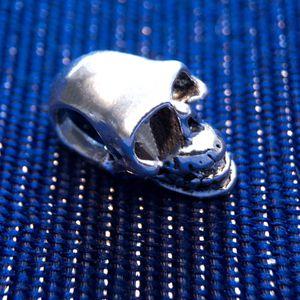 925 Sterling Silver Skull Charm for Charm Bracelets or Necklace - Pandora Compatible for Sale in Las Vegas, NV