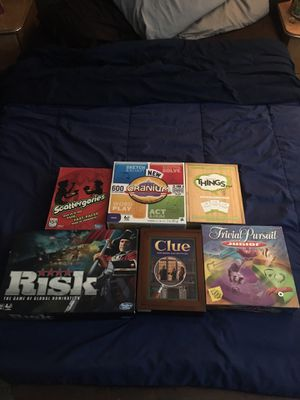Assortment of board games for Sale in Smithfield, RI