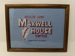 Coffee sign Maxwell House bar needlepoint for Sale in Hicksville, NY