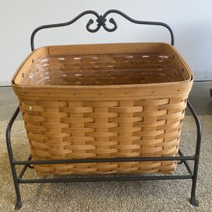 1999 Longaberger Magazine Basket & Stand for Sale in San Dimas, CA