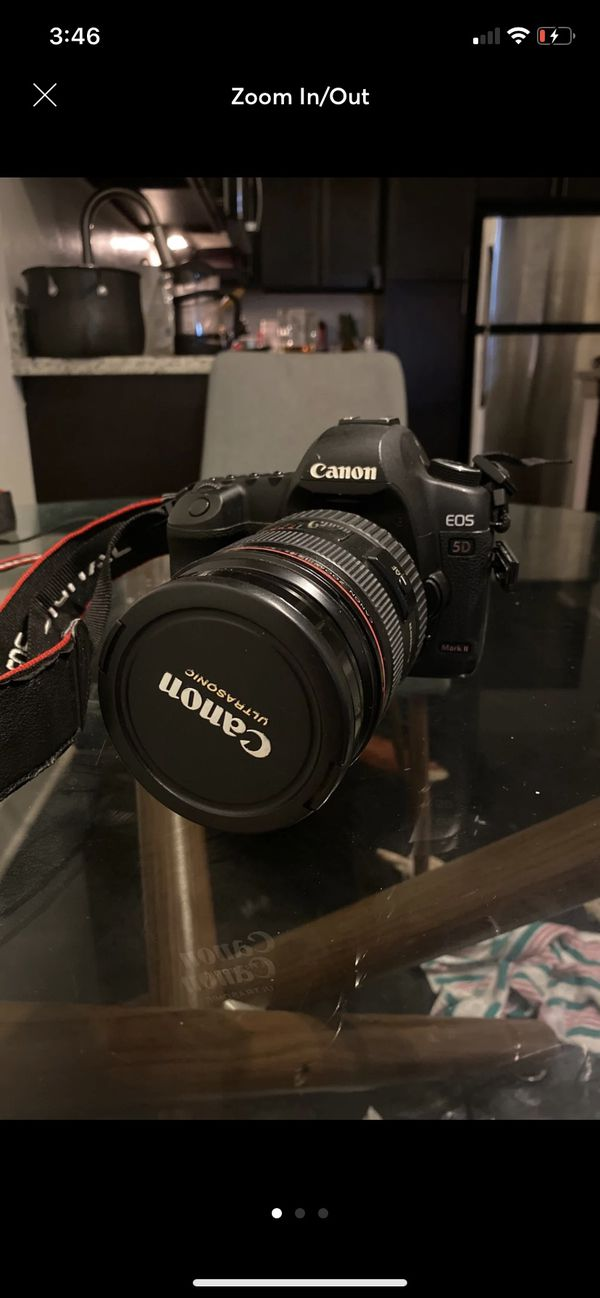 Canon 5d mark ii with 24-70 mm lens