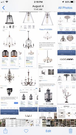 Lighting many to choose from. Indoor outdoor. Pendants chandeliers wall sconces literally hundreds to choose from atleast 50-90% off retail Check ou for Sale in Davie, FL
