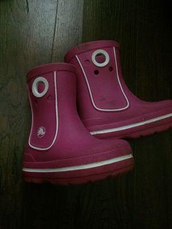 Kids boots (crocs) for Sale in Hyattsville,  MD
