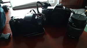 2 Cameras and a lens (Canon EOS 650 & Canon EOS Rebel X S) for Sale in Stevensville, MD