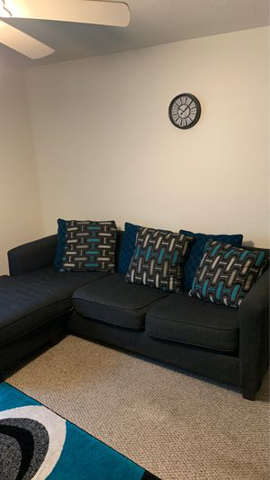Black and Blue Couch for Sale in Riverview, FL