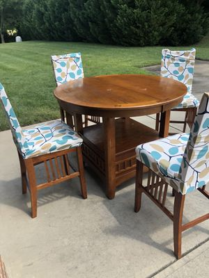 Solid wood high top table for Sale in Charlotte, NC